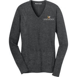 20-LSW285, X-Small, Charcoal Heather, Xperience Fitness (full Color).